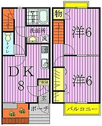 [テラスハウス] 千葉県柏市南増尾7丁目 の賃貸【千葉県 / 柏市】の間取り