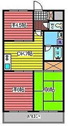 埼玉県さいたま市浦和区北浦和1丁目の賃貸マンションの間取り