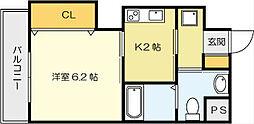 古船場タカヤコーポレーションビル[2階]の間取り
