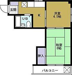 第2吉川ハイツ[4階]の間取り