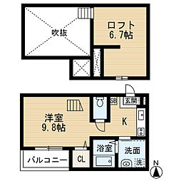 愛知県名古屋市中村区大宮町2丁目の賃貸アパートの間取り