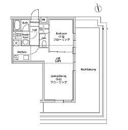 東急東横線 代官山駅 徒歩8分の賃貸マンション 4階1LDKの間取り