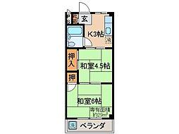 京都府宇治市小倉町新田島の賃貸マンションの間取り