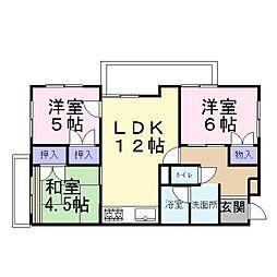 兵庫県加古川市加古川町備後の賃貸マンションの間取り