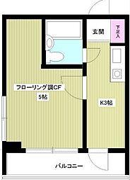 ライオンズマンション東銀座[7階]の間取り