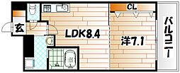 No.65 クロッシングタワー[19階]の間取り