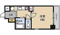 大阪府大阪市北区大淀中2の賃貸マンションの間取り