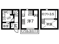 Rino-Che豊田本町[2階]の間取り