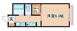 兵庫県三木市本町1丁目の賃貸アパートの間取り
