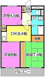 埼玉県志木市中宗岡1丁目の賃貸アパートの間取り