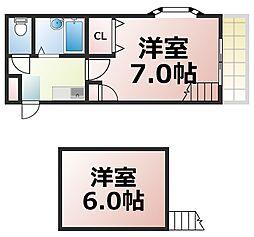 Osaka Metro中央線 緑橋駅 徒歩5分の賃貸マンション 3階1LDKの間取り