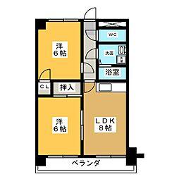 ベアーズマンション[4階]の間取り