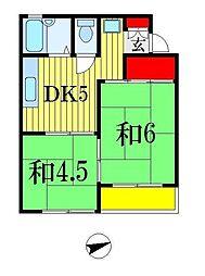 ロジュマン・XO[1階]の間取り