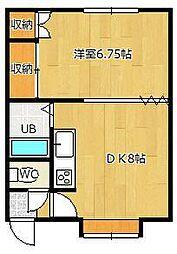 マルシゲハイツ泉1[6号室]の間取り