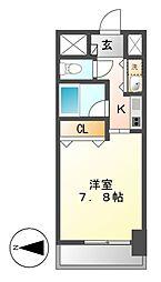 アクシス桜通内山(AXIS)[13階]の間取り