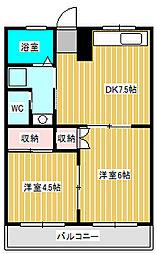 メゾン梅沢[3階]の間取り