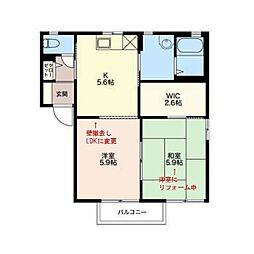 フォーレス広田 A棟[2階]の間取り