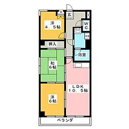 橘屋ビルA.M.D.E[7階]の間取り