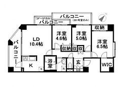 エトワール宇喜田[3階]の間取り