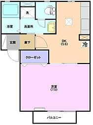 エムロードII[2階]の間取り
