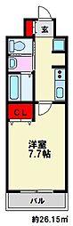 J-PLACE大橋南[6階]の間取り