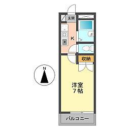 東京都江戸川区篠崎町8の賃貸アパートの間取り