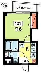 サットンプレイス・EAST[1階]の間取り