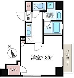 東京都墨田区吾妻橋3丁目の賃貸マンションの間取り