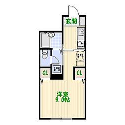ラ・プリエ[2階]の間取り