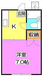 恩田コーポ[2階]の間取り