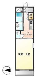 フローラル栄2[2階]の間取り