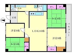高塚苑[3階]の間取り