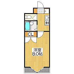 リバーサイド高野[206号室]の間取り