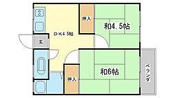 新生荘[210号室]の間取り