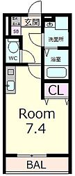 エクセル田中 W棟[1階]の間取り