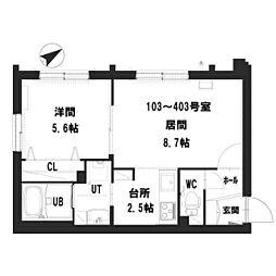 仮)グランメール 宮の沢2-1II 1階1LDKの間取り