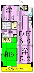 東京都足立区梅田4丁目の賃貸マンションの間取り