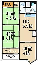 デベロップハイツ[2階]の間取り