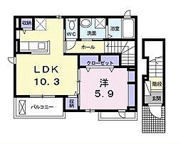 サンロードIII[2階]の間取り
