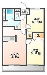 PARK COURT5(パークコート)[8階]の間取り
