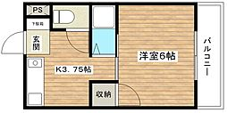 津之江パークハイツ2号館[4階]の間取り