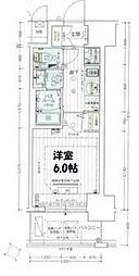 エステムコート大阪WEST 3階1Kの間取り