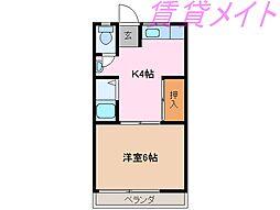 岩渕松鶴[3階]の間取り