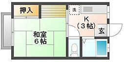 パナハイツクラタ[1階]の間取り