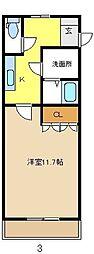 愛知県名古屋市瑞穂区彌富通5の賃貸マンションの間取り