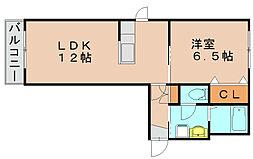 アウロラ[2階]の間取り