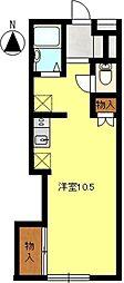 ドルフフジミA[201号室]の間取り