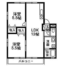 エルハイムC-1[203号室]の間取り