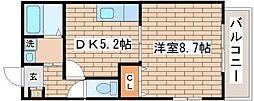 グレイス御屋敷通[2階]の間取り