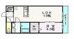 リブリ・メゾン中宮[3階]の間取り